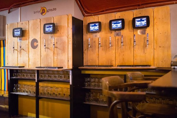 Image of Cellar Club self serve beer taps