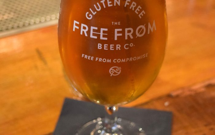 Pint of Free From in chalice pint glass